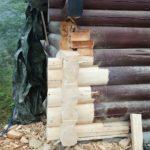 Reparasjon av tømmer underveis