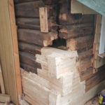 Tømmerreparasjon underveis 1