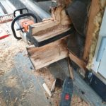 Åpnet frem til hard tømmer