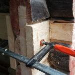 Limtre presses sammen under hedring